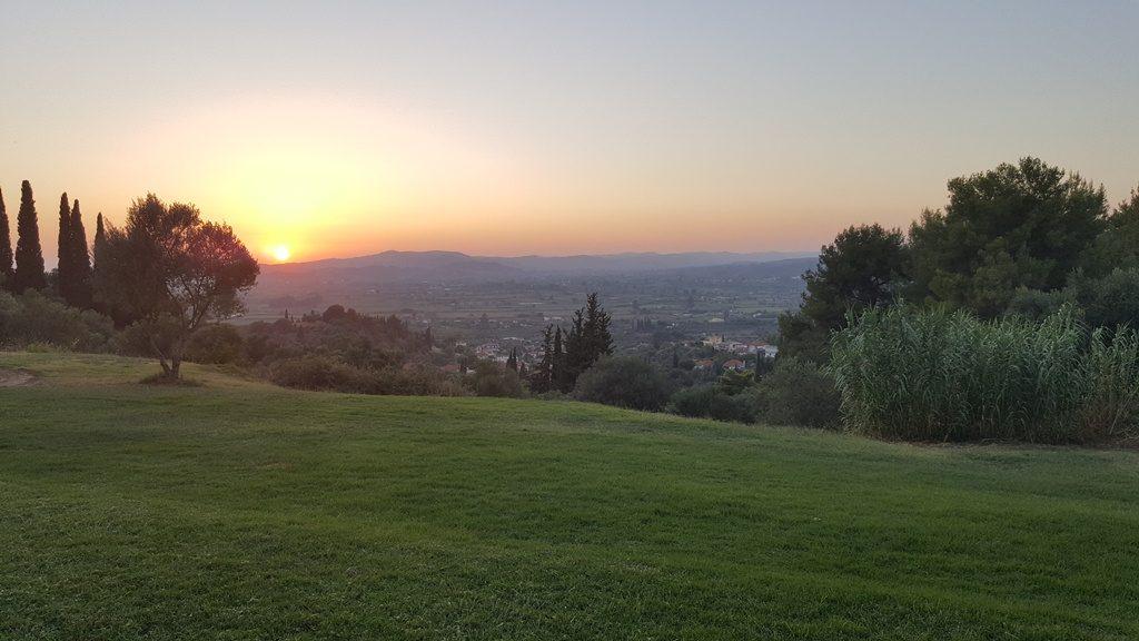Фото заката летом в Греции