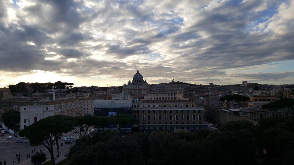 Панорама города, купол собора