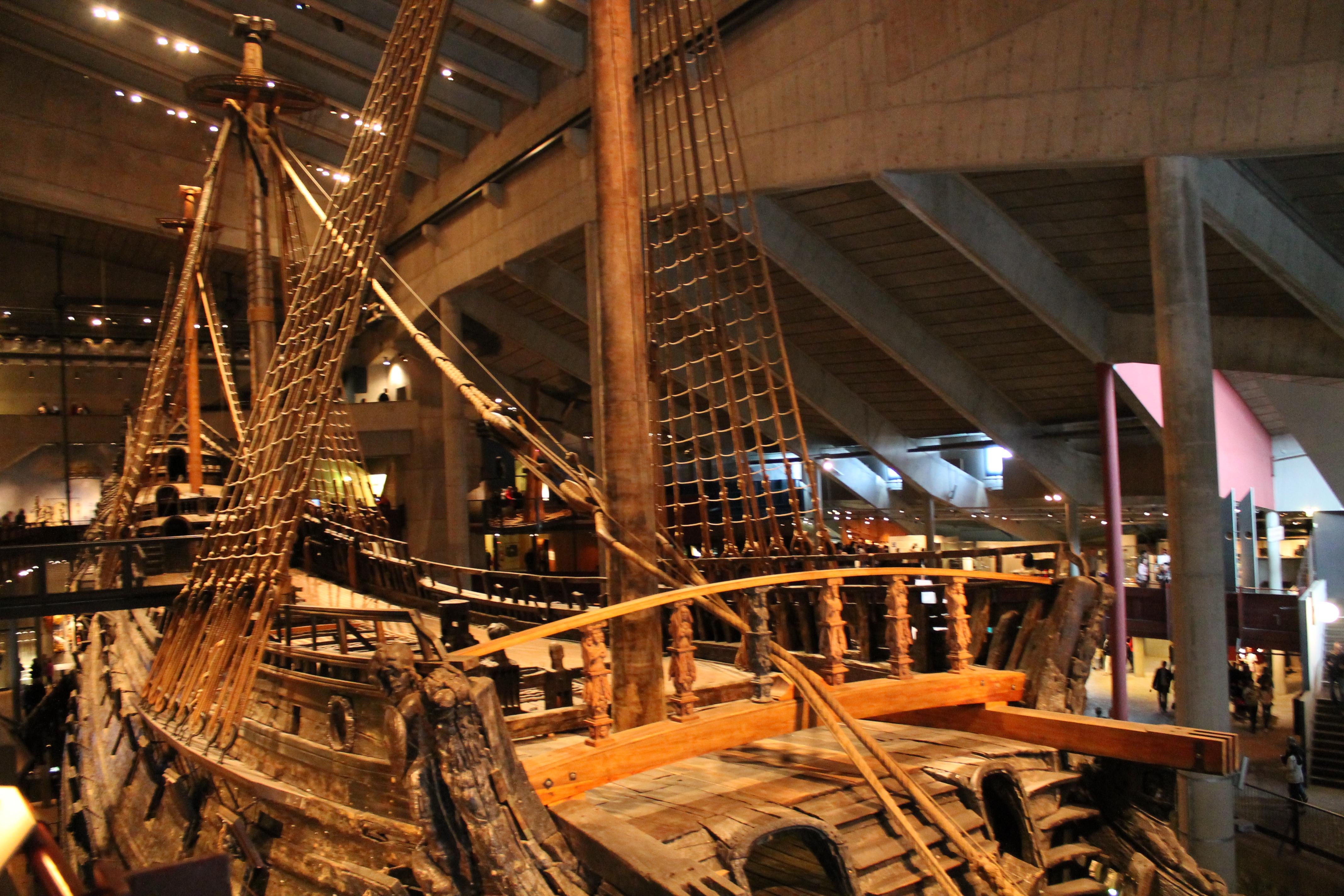 Верхняя палуба корабля Васа