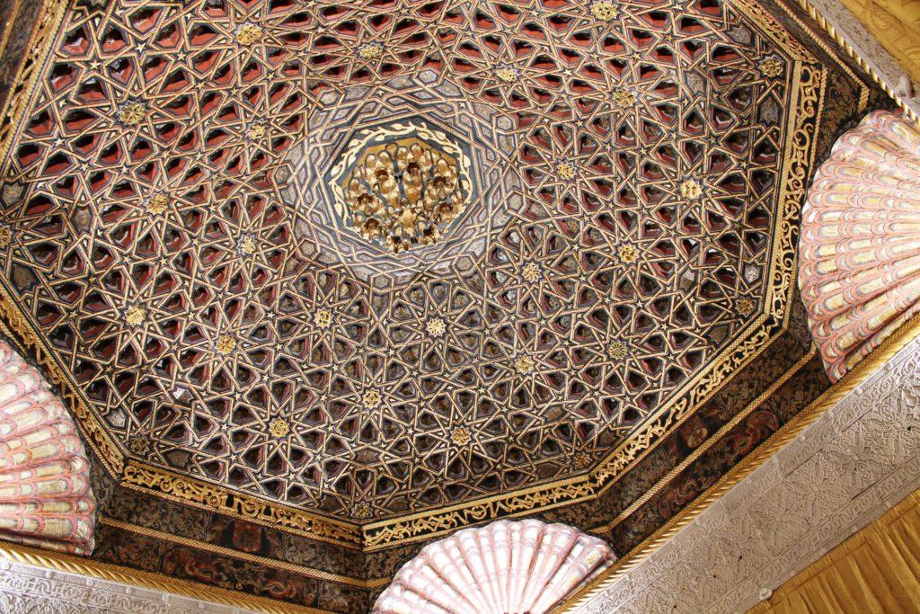 Плафон в мудехарском стиле в замке Вилландри