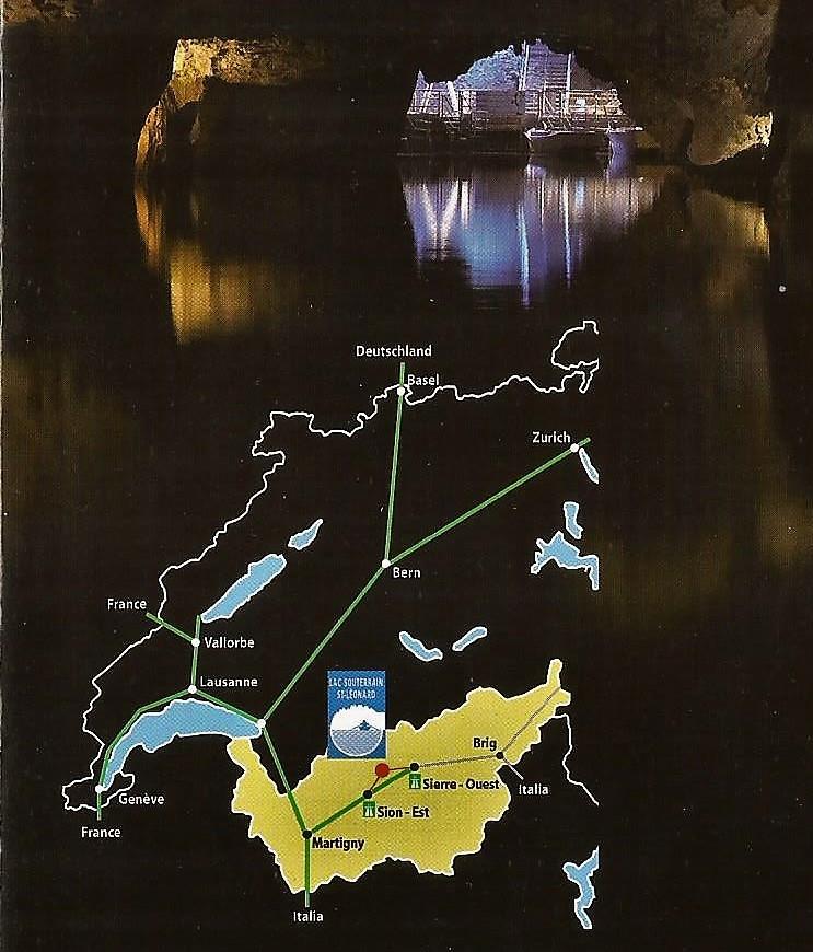 Где находится пещера с подземным озером в Швейцарии