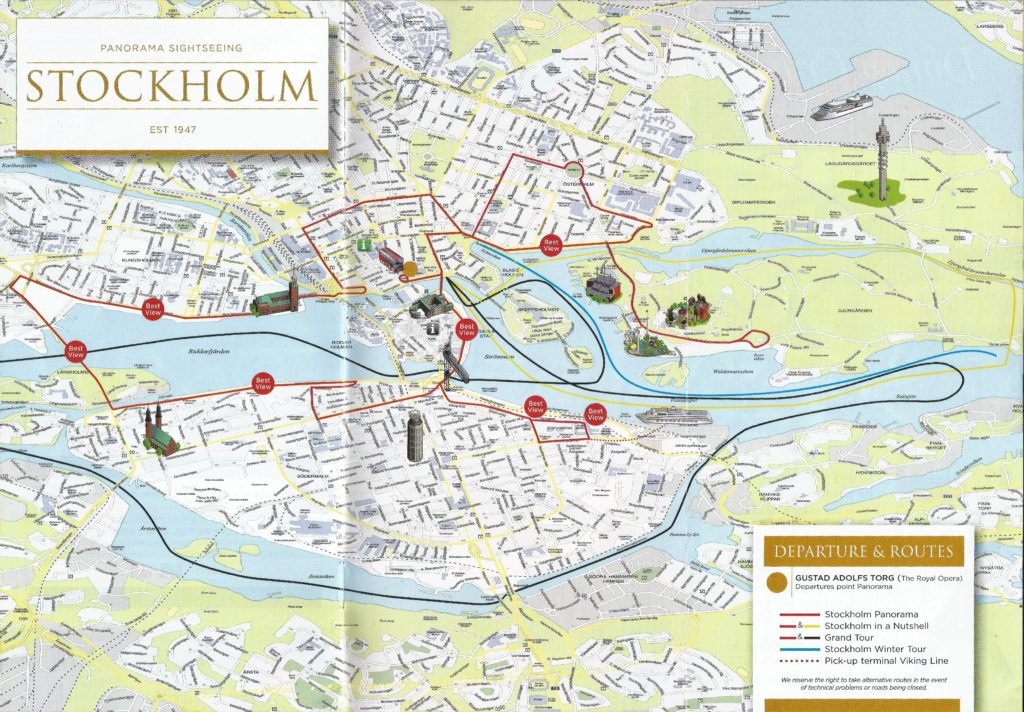 Схема экскурсий в Стокгольме