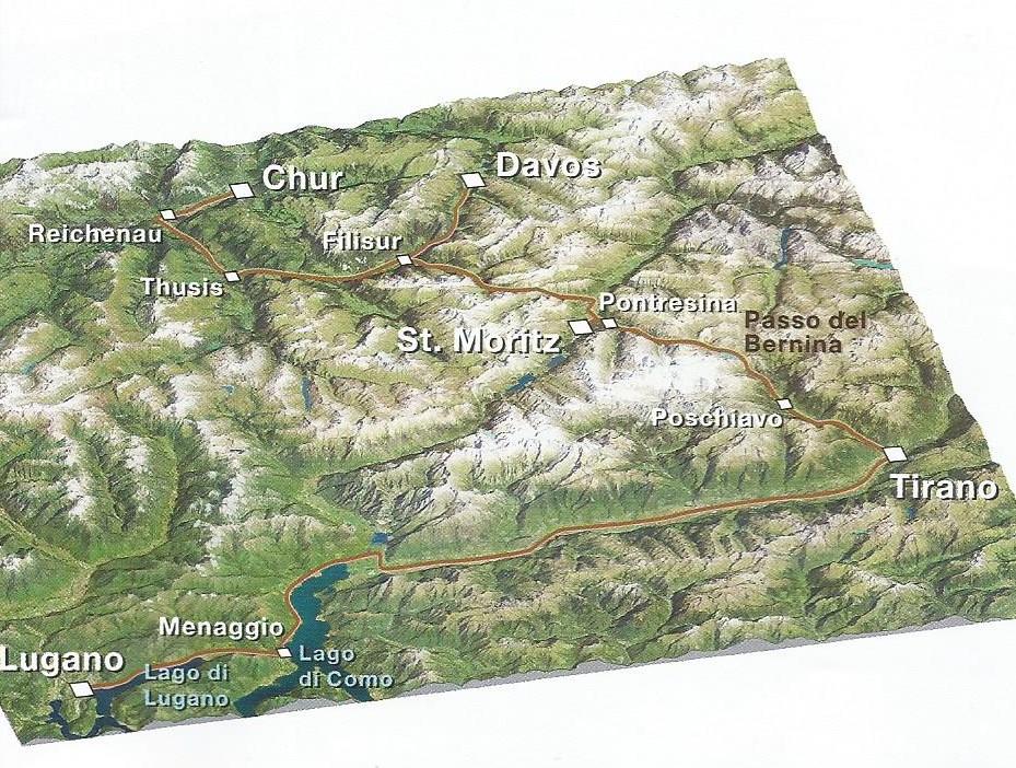 Экспресс Бернина в Швейцарии