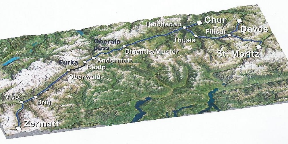 Ледниковый экспресс в Швейцарии