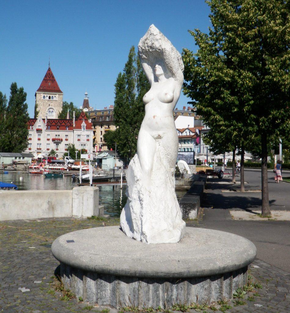 На набережной Женевского озера