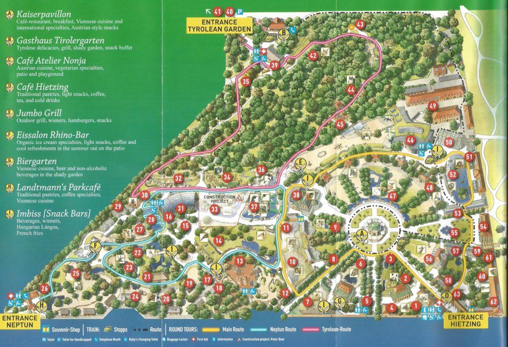 План зоопарка Шенбрунн