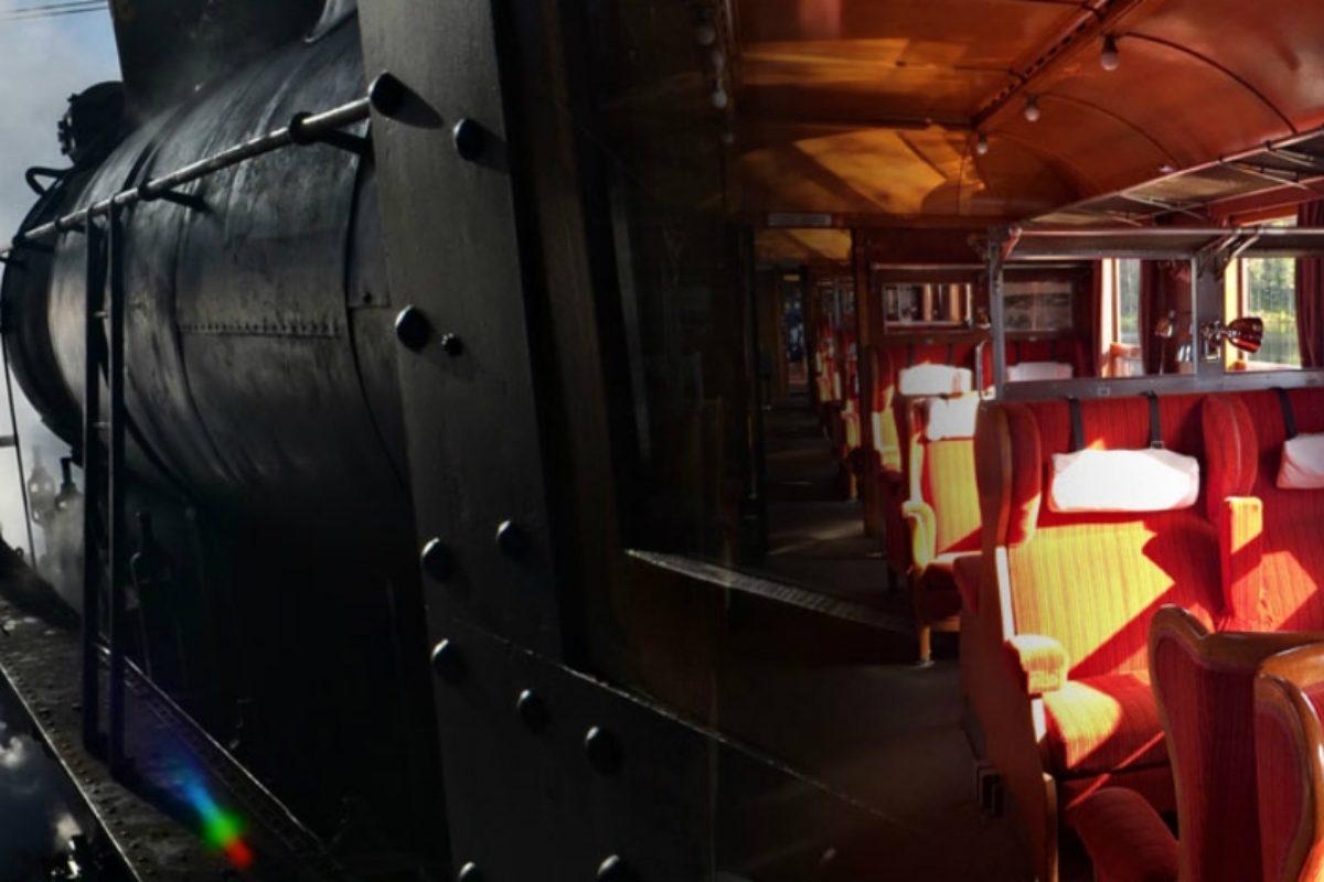 Поезд по дикой местности в Швеции