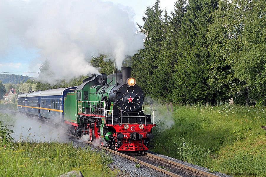 Ретропоезд в горный парк Рускеала